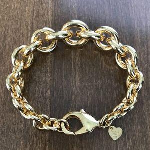 "NEW! Bronze Milor 7"" Rolo Link Bracelet Italy"